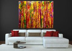 ARTFINDER: Natural transition (interference colo... by Nestor Toro - This piece is about embracing all the colors I love, predominately yellow chrome. An array of textures over gesso layered canvas using fluid translucent acry...