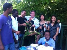 Refugee farmers with chef David Burke at the IRC New Roots farm in the Bronx, NYC David Burke, Bronx Nyc, New Roots, Organizations, Farmers, Helping People, Take That, In This Moment, World