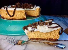 Food Fitness by Paige: Pumpkin Cheesecake with Chocolate Sauce