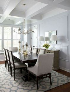 Pretty Dining Chairs And Square Tablependant Light Is Cute Glamorous Grey Dining Room Chairs Decorating Design