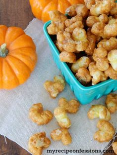 Pumpkin Spice Caramel Corn Pops recipe... so tasty and perfect for fall…