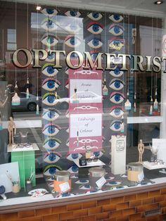 "M latest ""eyecatching"" window display for optometrist in Melbourne Australia."