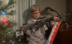 """In the 1983 movie A Christmas Story, Ralphie desperately wants a Red Ryder BB Gun, declaring it the """"Holy Grail of Christmas gifts."""" Ralphie's mother warns […] Best Christmas Movies, Christmas Time Is Here, A Christmas Story, Little Christmas, All Things Christmas, Holiday Fun, Vintage Christmas, Christmas Holidays, Merry Christmas"""