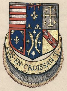 Jean d'Anjou, Duc de Calabre et de Lorraine, sénateur du Croissant, Armorial des chevaliers de l'ordre du Croissant.