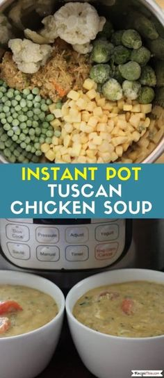 Instant Pot Tuscan Chicken Soup Is A Creamy Italian Chicken Soup Made With Tuscan Chicken Staples And Loaded With Leftovers. Got Some Tuscan Chicken For Lunch To Use Up, Then Cook Our Instant Pot Tuscan Chicken Soup For Dinner. Italian Soup Recipes, Creamy Italian Chicken, Tuscan Chicken, Chicken Soup Recipes, Instant Pot Pressure Cooker, Pressure Cooker Recipes, Pressure Cooking, Slow Cooker, Healthy Recipes