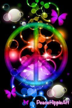 Peace Sign Art....of Rainbow. ☺❤