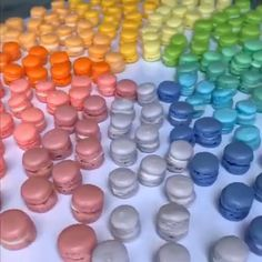 These should be the tiniest macarons out there?  Credit:   These should be the tiniest macarons out there? Yummy Treats, Sweet Treats, Yummy Food, Macaroon Recipes, Mini Macarons Recipe, Baking Recipes, Dessert Recipes, Chocolate Macaroons, Tiny Food