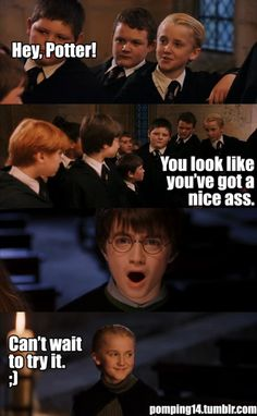 Harry Potter ~ Drarry Draco x Harry -- I just love Harry's face XD