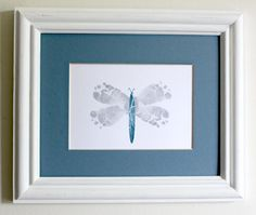 Modern Nursery Art Baby Feet Dragonfly by ByKathrynTherese Nursery Art, Girl Nursery, Baby Feet Art, Baby Crafts, Crafts For Kids, Flying With A Baby, Footprint Art, Baby Footprints, Hand Art