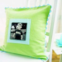 A Comfort Pillow with a Picture on it