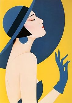 Ichiro Tsuruta is a Japanese visual artist, was born in 1954 in the city of Hondo in Kumamoto Prefecture, Ichiro Tsuruta grew up in Kyushu's Amakusa Region, Japan. Art Inspo, Kunst Inspo, Inspiration Art, Art Deco Illustration, Retro Kunst, Retro Art, Retro Poster, Vintage Posters, Pinturas Art Deco