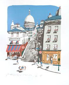 Montmartre watercolour by Paul Hogarth