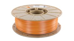 Starch-based 3D printing filament, Biome 3D, in Tangerine Orange www.cleanstrands.com