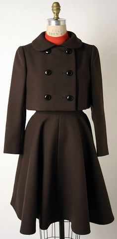 Wool suit by Norman Norell [American], c. 1967