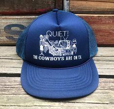 DALLASCOWBOYS Vintage Navy Blue Snapback Trucker Hat https   etsy.me  7d7043c4a2b9