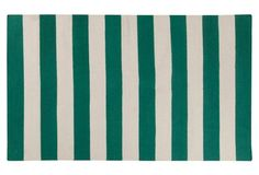 Hermes Flat-Weave Rug, Emerald