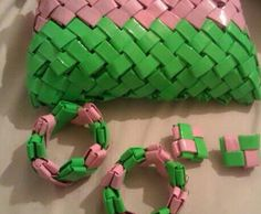 """Handmade """"magazine"""" style sorority clutch bag for AKA with accessories"""