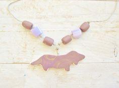 Necklace dachshund dog wiener sausage dackel pendant by poppyshome