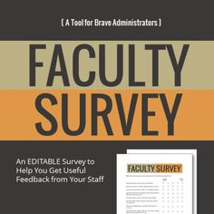 Faculty Survey by Cult of Pedagogy - This editable survey allows administrators to survey teachers about their effectiveness as school leaders. Includes questions about school culture, expectations, decision-making, and overall strengths and growth areas. School Leadership, Leadership Coaching, Educational Leadership, Leadership Development, Leadership Qualities, Professional Development, Leadership Activities, Leadership Strategies, Coaching Quotes