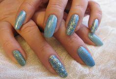My Blue Nails. www.funkyandfifty.blogspot.com