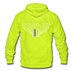 "Neon yellow ""Low Key Hoodie"" 20% off till April 6th. www.billyyon.com"