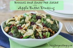 Salad Recipes : Broccoli and Snow Pea Salad with Apple Butter Dressing