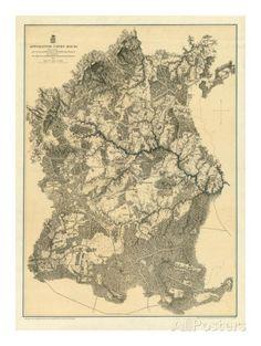 Civil War Map: Appomattox Court House, c.1869 Prints at AllPosters.com