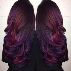 Pretty red and purple hair