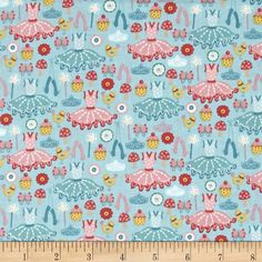 Designed by The Henley Studio for Andover Fabric, this cotton print fabric is perfect for quilting, apparel and home decor accents. Colors include white and shades of pink, blue, yellow and green.