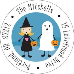 Trick or Treat Round Address Labels