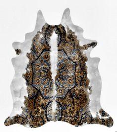 Brick + Burlap: Persian Cowhide Rug