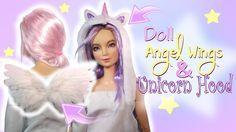 EASY Angel Wings & Unicorn Hood Tutorial // DIY Dolls/Dollhouse