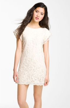 Because a little lace never hurt - Fire Lace Minidress (Juniors) available at #Nordstrom