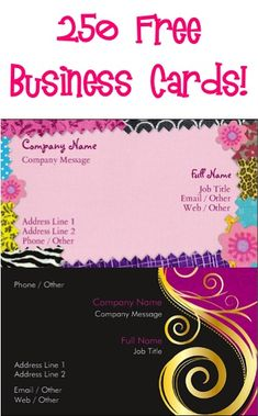 Business cards make your own custom cards vistaprint 250 free business cards just pay sh stock up on colourmoves