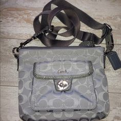 Coach Jacquard swing pack Crossbody Coach Jacquard swing pack Crossbody   PReOwned  Has some fabric rubbing  Corners and stitching is tight   Liner is whole but some pen marks and make up   Strap is adjustable Coach Bags Crossbody Bags