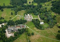 Nottingham's Wollaton Hall from the air. Twitter / @TraceyWhitefoot - Whitefoot Photography http://whitefootphotography.com/