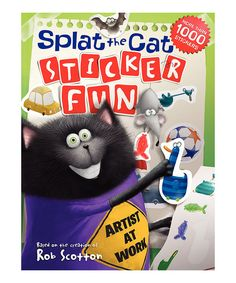 Look at this Splat the Cat: Sticker Fun Paperback on #zulily today!