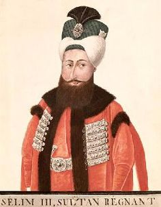 Sultan Selim III century (w/c on paper), Turkish School / Bibliotheque Nationale, Paris, France / Bridgeman Images Turkish School, Bnf, Ottoman Empire, Troops, 19th Century, Winter Hats, Bomber Jacket, 18th, History