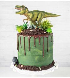 Dinosaur Birthday Cakes, 4th Birthday Cakes, Dinosaur Cake, T Rex Cake, Dino Cake, Graham Cake, Cupcakes, Party Cakes, Amazing Cakes