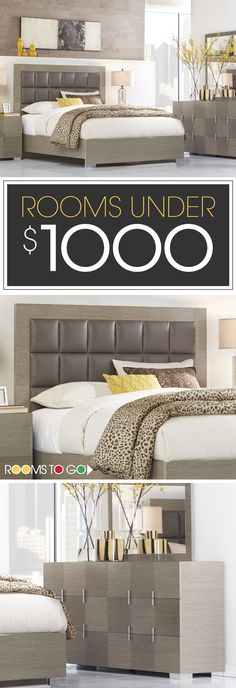 Visit Rooms To Go today, and save on our beautiful living rooms, bedrooms and dining rooms under $1000!