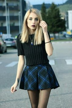 grunge skirt outfit - Google Search