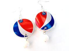 Pepsi Disc Earrings
