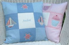 embroidered cushions for babies - Google Search