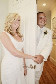 They wanted a special moment together without seeing each other before walking down the aisle! TOO CUTE