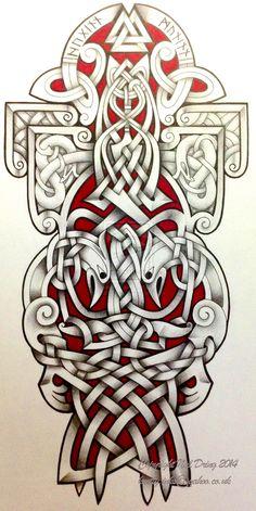 Ravens by Tattoo-Design.deviantart.com on @DeviantArt #celtic #tattoos