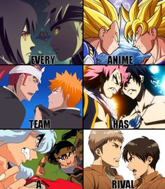 Anime Rivals, Naruto, Dragon Ball Z, Bleach, Fairy Tail, Inuyasha, Shingeki no Kyojin