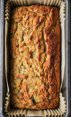 Paleo Zucchini Bread - moist, tender, and naturally sweetened. Enjoy along side a cup of coffee or as a light snack any time of day! Try next time Paleo Zucchini Bread, Paleo Bread, Paleo Baking, Paleo Food, Low Carb Zucchini Recipes, Eating Paleo, Vegetarian Food, Fodmap Recipes, Paleo Recipes