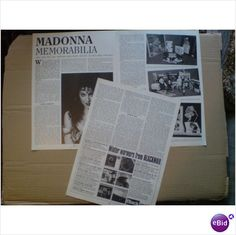Madonna. Madonna Memorabilia 4 + 1/2 page feature Record Collector magazine