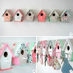 going to make these I can never find my keys....and a absolutely love birdhouses.