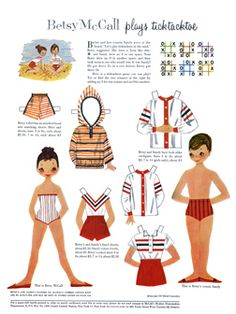 Betsy McCall Paper Dolls - 300 dpi